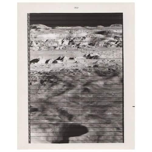 Lunar orbiter vintage gelatin-silver print by NASA, 1966, offered by Jason Jacques