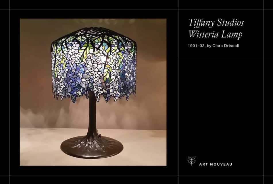Photo of a Tiffany lamp on a black background