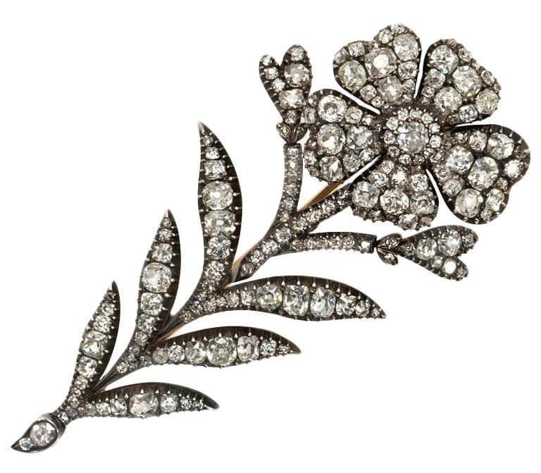 Victorian Diamond En Tremblant Corsage Brooch