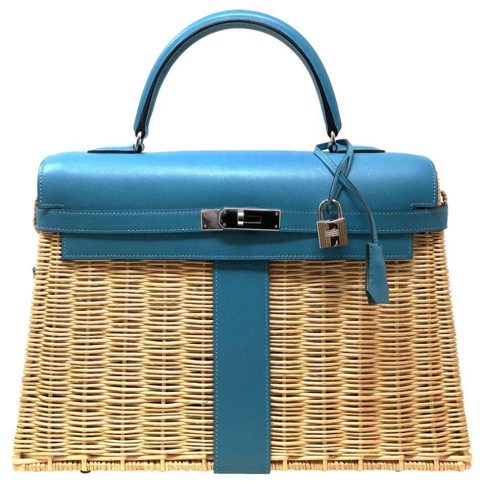Sac Hermès Kelly 32 bag, picnic edition