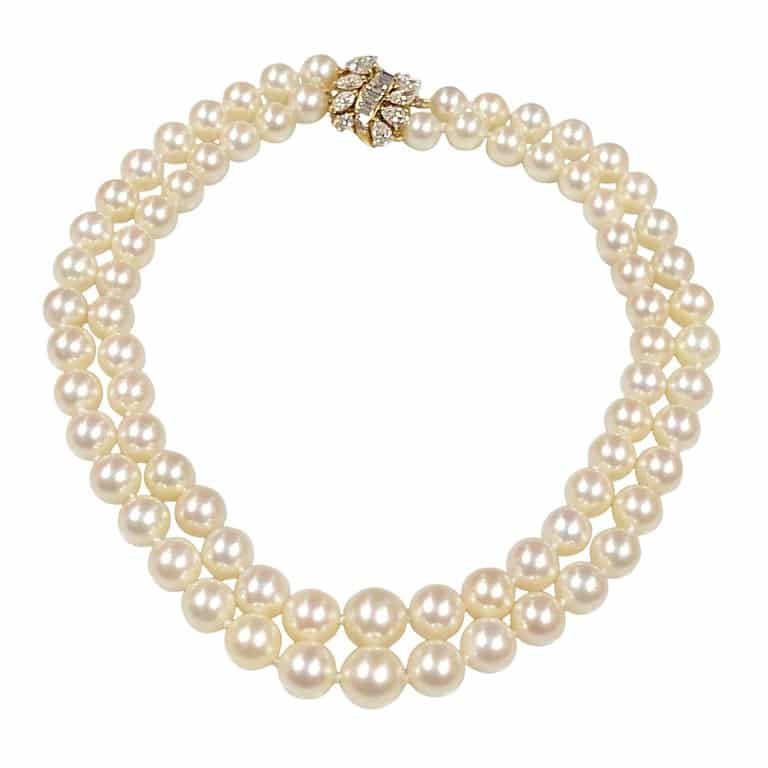 Cartier diamond and pearls necklace, ca. 1960s