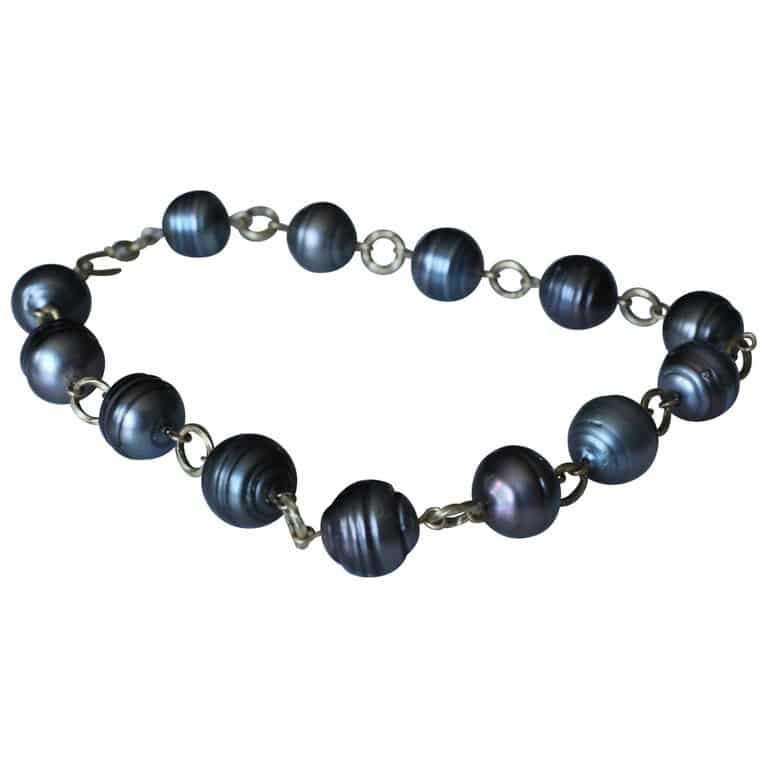 AB Jewelry NYC Tahitian pearl link necklace