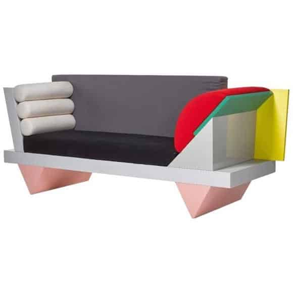 Peter Shire for Memphis Big Sur sofa, 1986. Offered by ammann // gallery