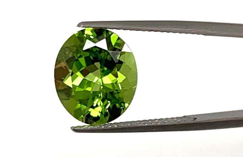 7.34-carat oval peridot