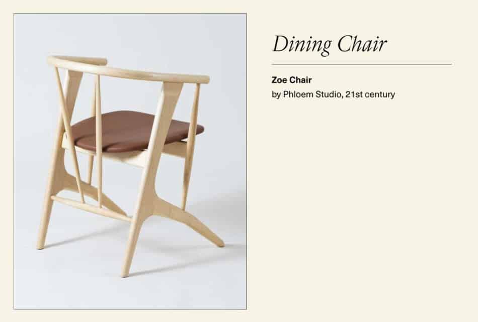 Modern maple dining chair