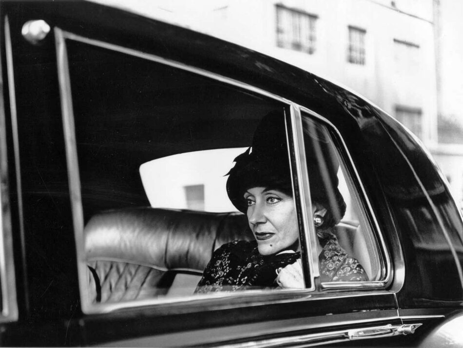 A 1965 shot of Gloria Swanson in her Rolls Royce limo, by Jack Mitchell