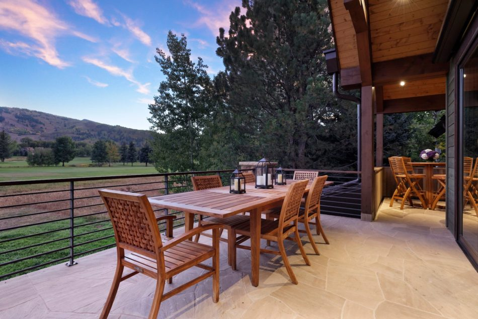 Betsy Shiverick's outdoor dining room in Aspen