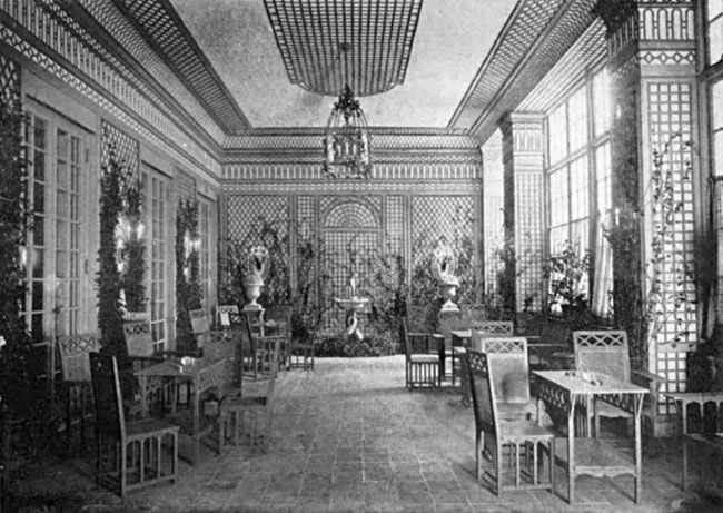 This photograph of the completed Trellis Room in the Colony Club caused a sensation among the press.