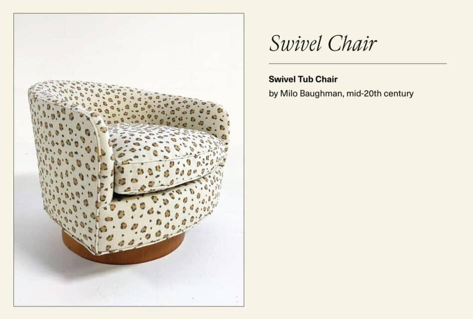 Leopard print swivel chair