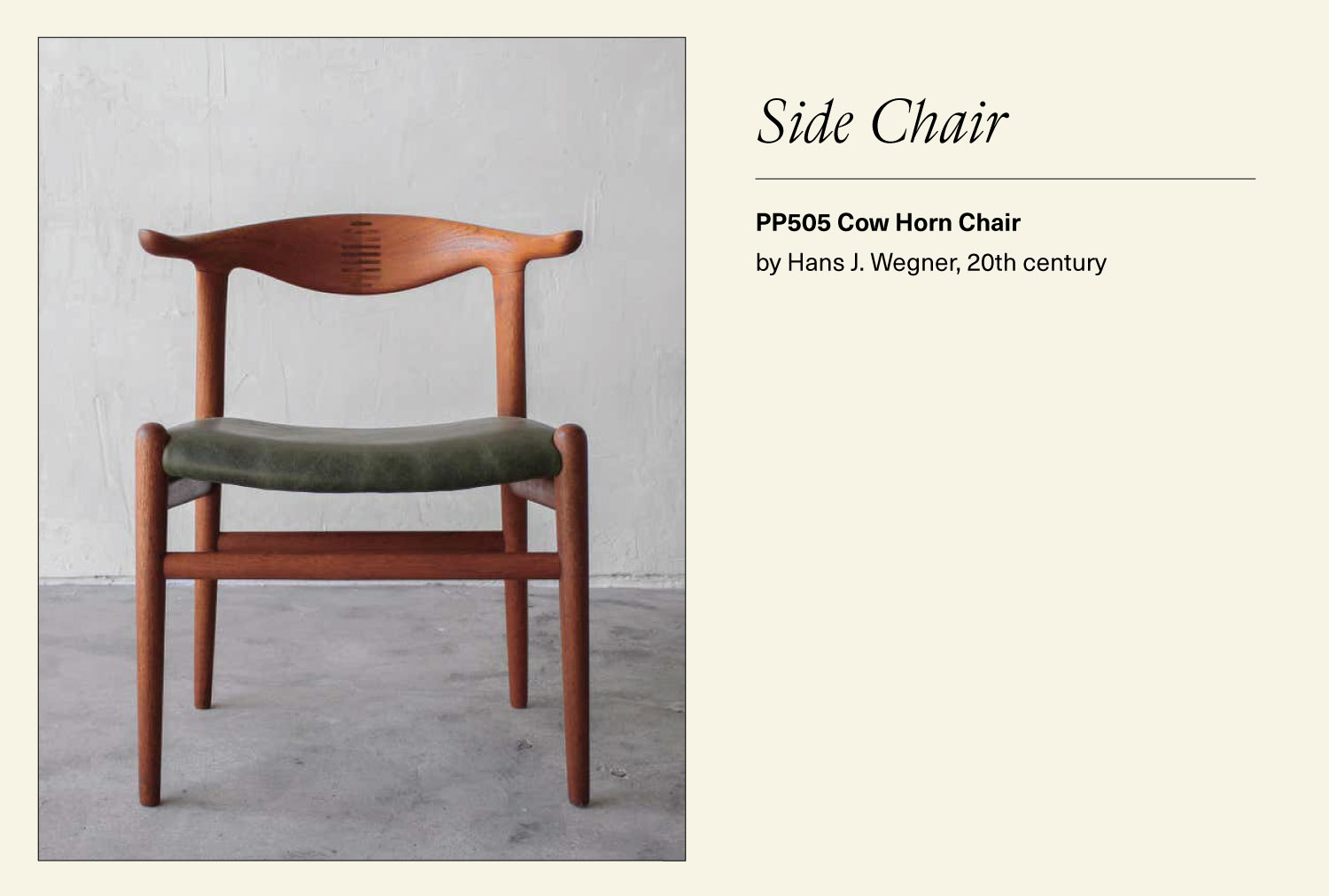 PP505 cow horn side chair