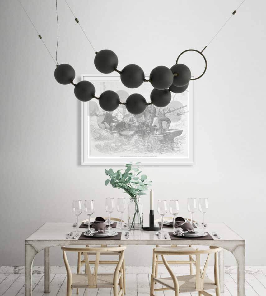 Coco chandelier by Larose Guyon