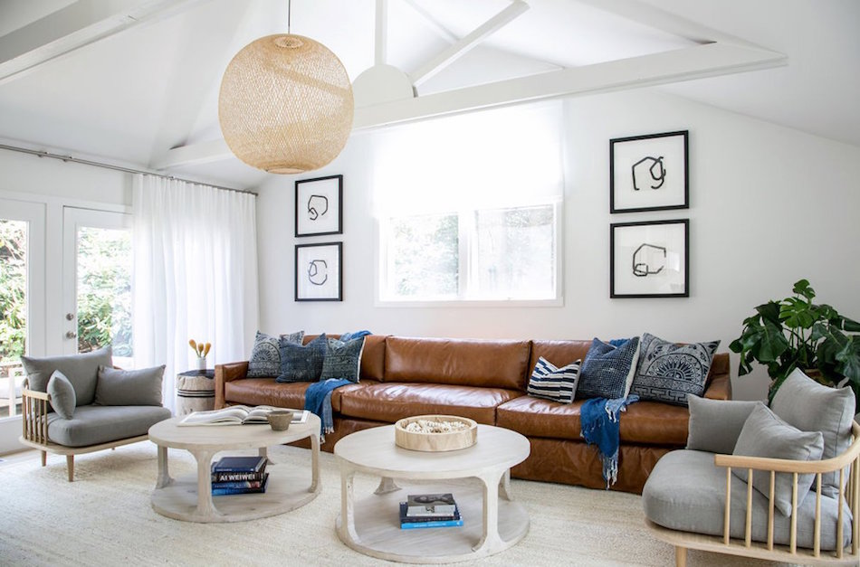 East Hampton living room by Chago & Co.