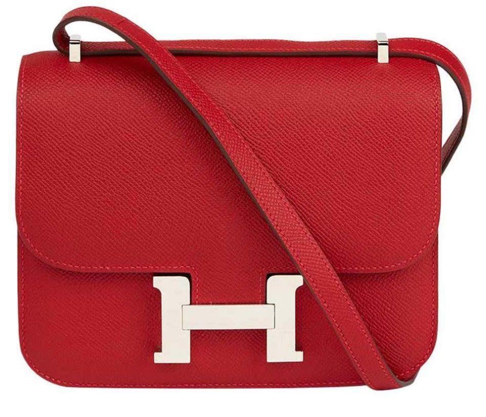 Hermès rouge casaque epsom leather Constance 18, 2013