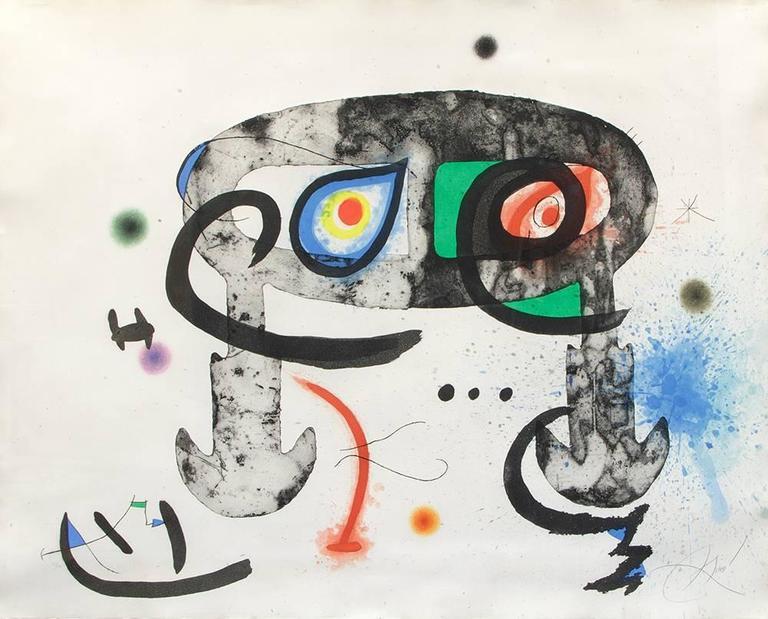 Le Hibou blasphémateur, 1975, by Joan Miró