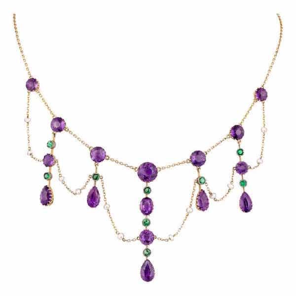 Suffragette collar necklace, circa 1910