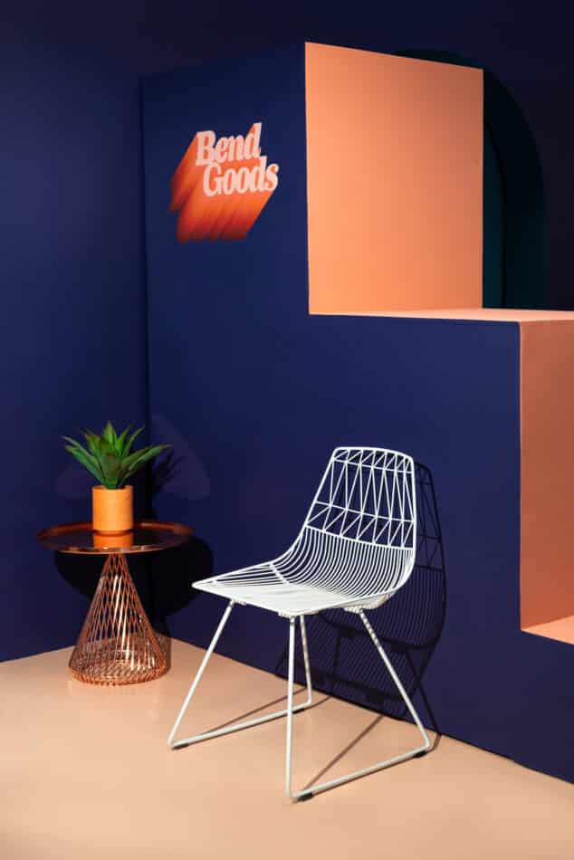 Lucy chair was inspired by the iconic Bertoia chair
