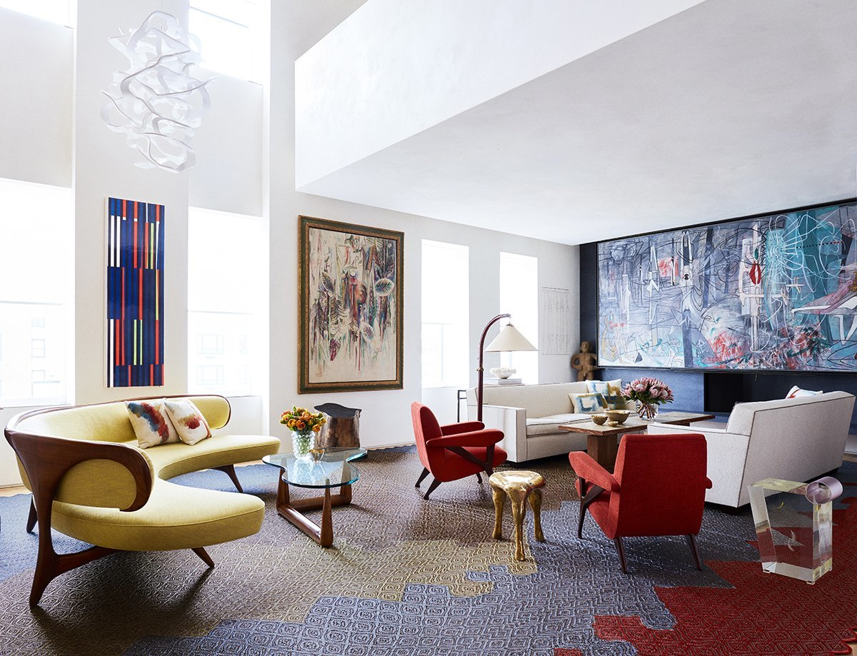 Park avenue triplex living room