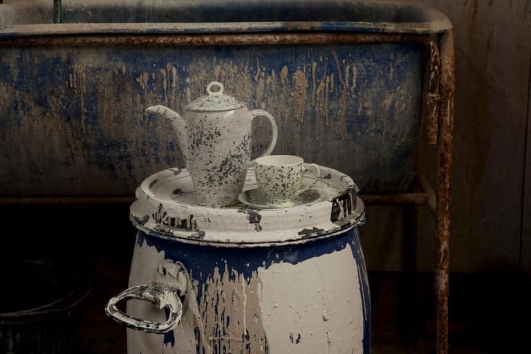 1882 Ltd. teapot, saucer and mug