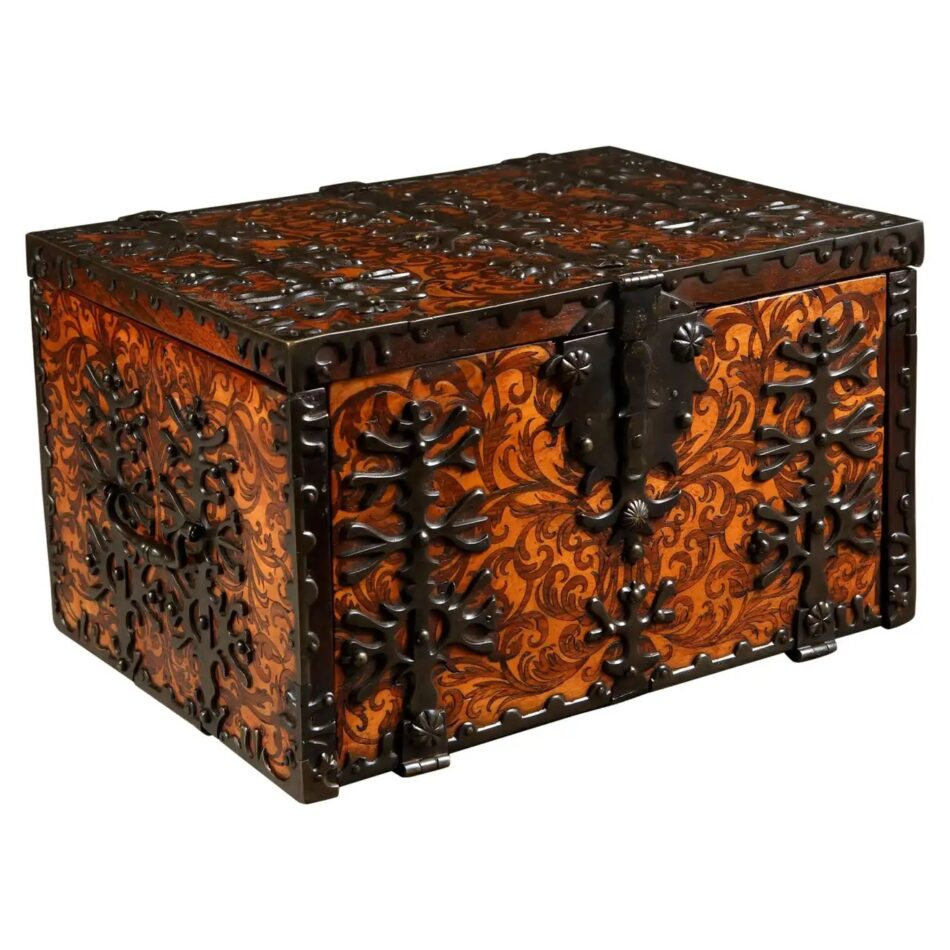 William and Mary Seaweed Marquetry Strong Box