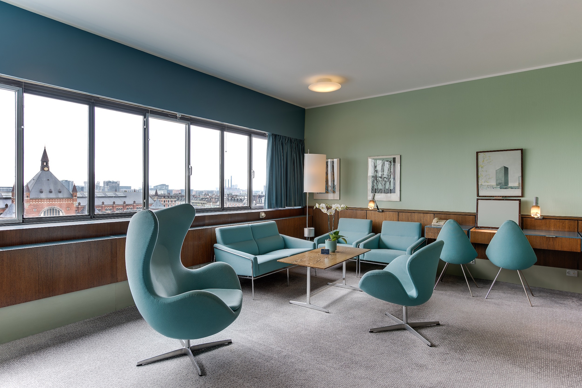 Room 606, the Arne Jacobsen Suite, at the Radisson Blu Royal Hotel in Copenhagen