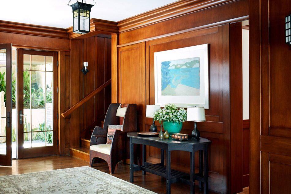 Madeline Stuart-designed foyer in Beverly Hills