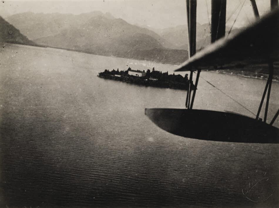 Aerial View of Lake Maggiore, 1925, by Fedele Azari,