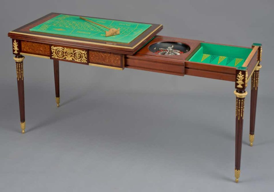 François Linke parquetry inlaid games table, 1890