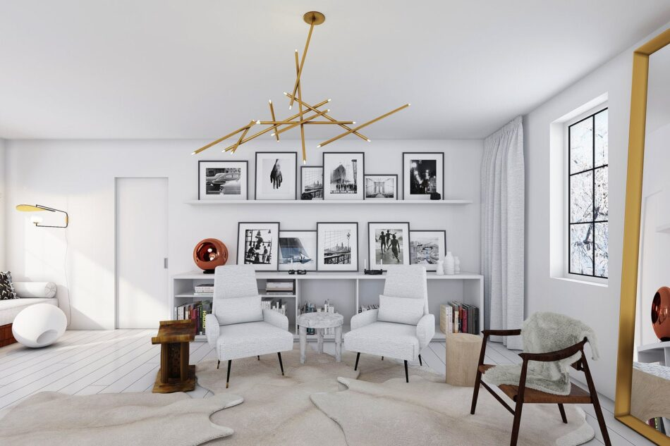 Winter McDermott Design living room in Sag Harbor, NY