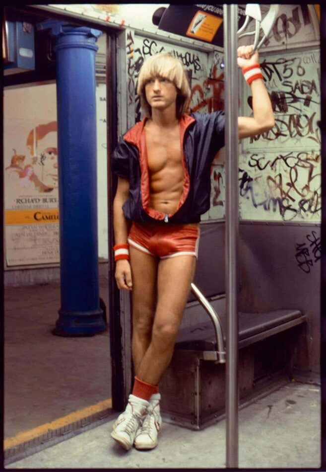 Self-Portrait on the Subway, 1970s, by Peter Berlin