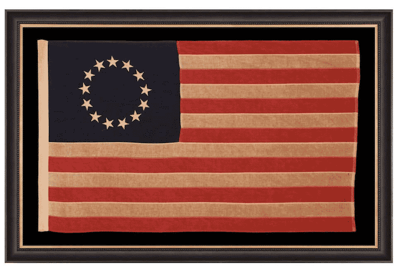 13-Star American Flag with Stars Sewn in the Betsy Ross Pattern, early 20th century
