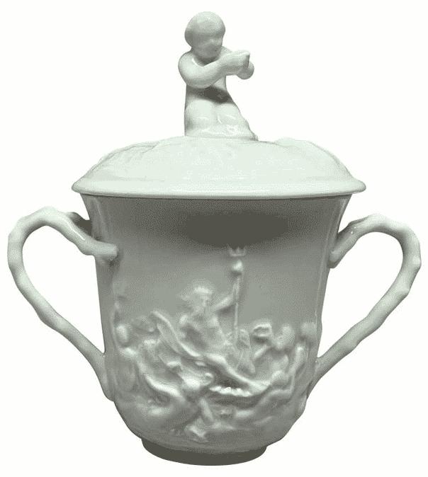 White Nautical Pot de Creme Cup, late 19th century