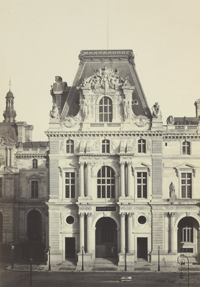 Pavillion Turgot at the Palais du Louvre, 1860s, by the Bisson brothers
