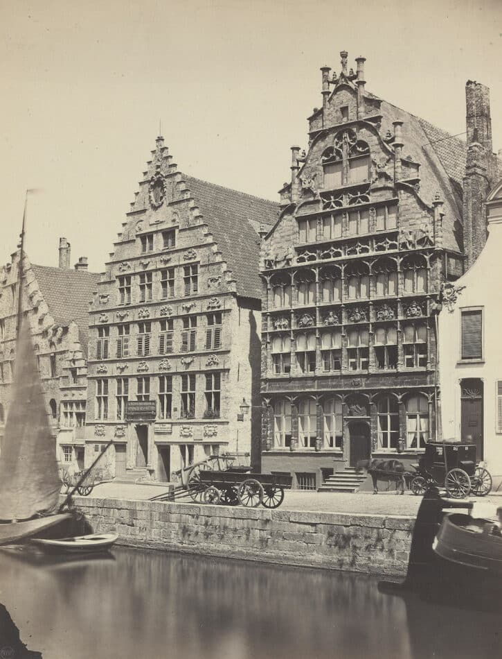Canal and Houses in Holland, 1860s, by the Bisson brothers