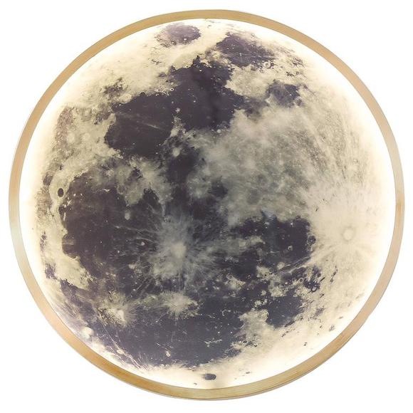 Ben and Aja Blanc's wall-mounted Moon light