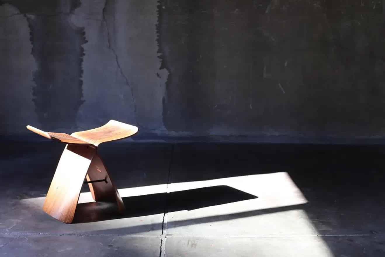 Wooden Butterfly Stool by Sori Yanagi for Tendo Mokko