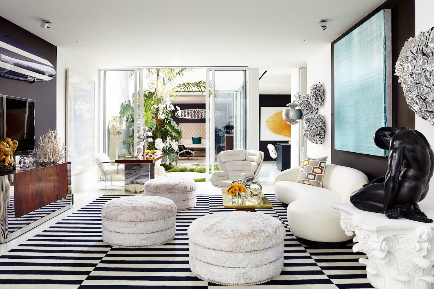 living room by Brown Davis Interiors