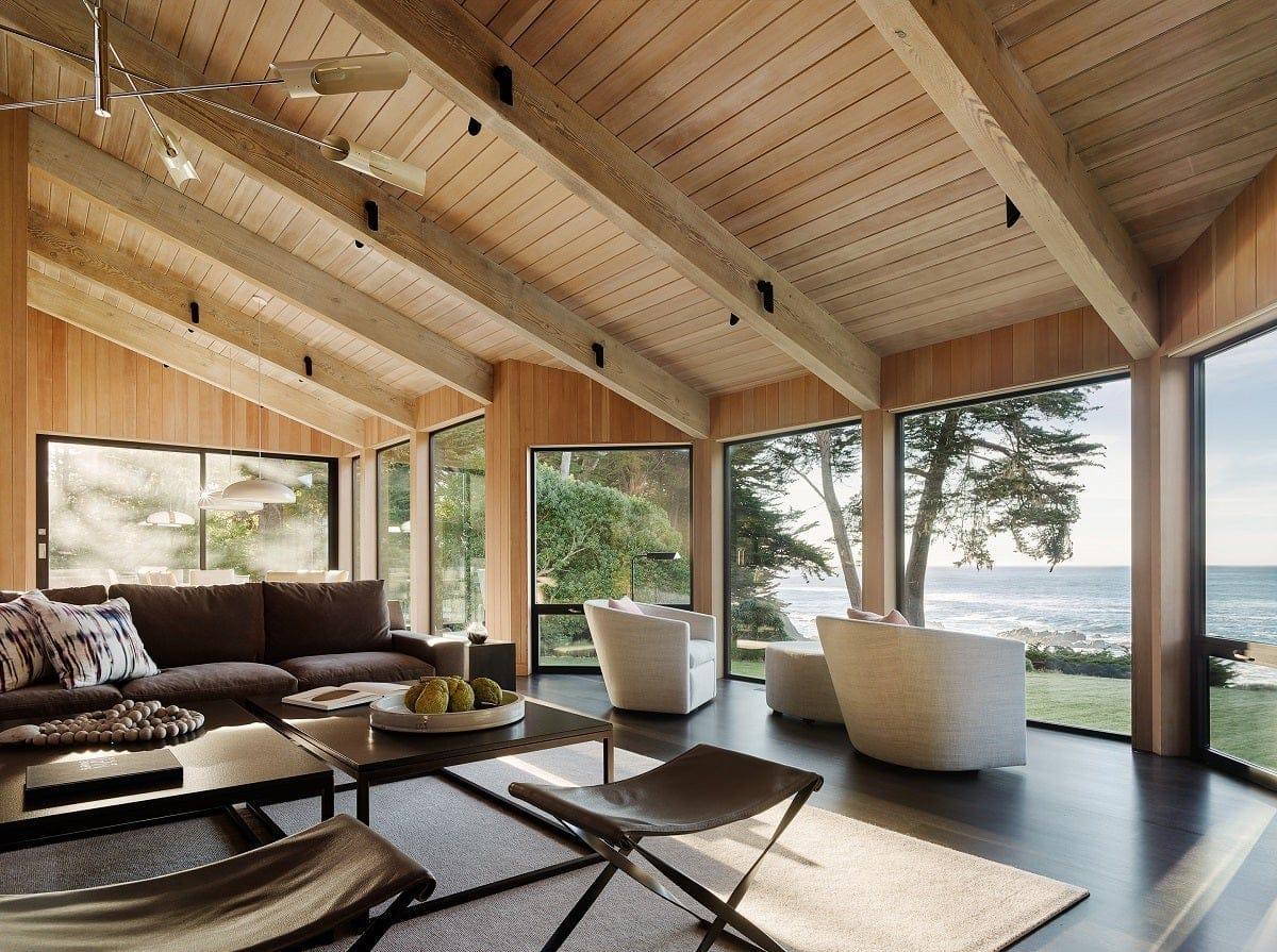 Leverone Design Inc living room in Sea Ranch