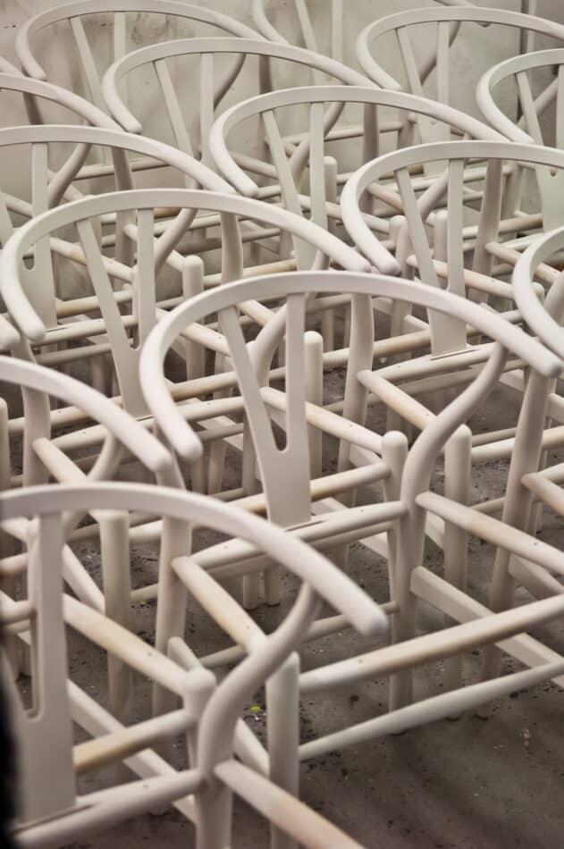 Wishbone frames durning production