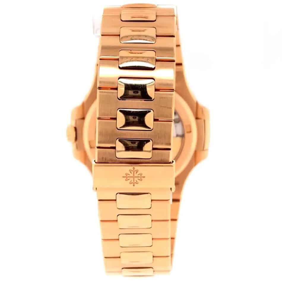 a 2016 Patek Philippe Nautilus rose-gold watch