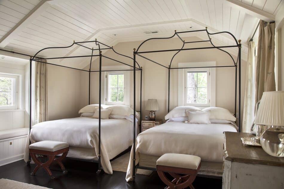 Connecticut bedroom by Charlotte Barnes Interior Design