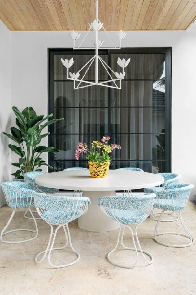 Outdoor dining room by Cloth & Kind in West Palm Beach