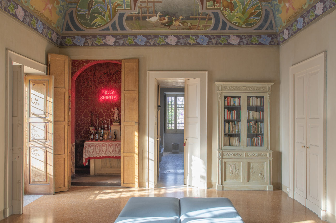 The living room/bar of Palazzo Daniele in Puglia.