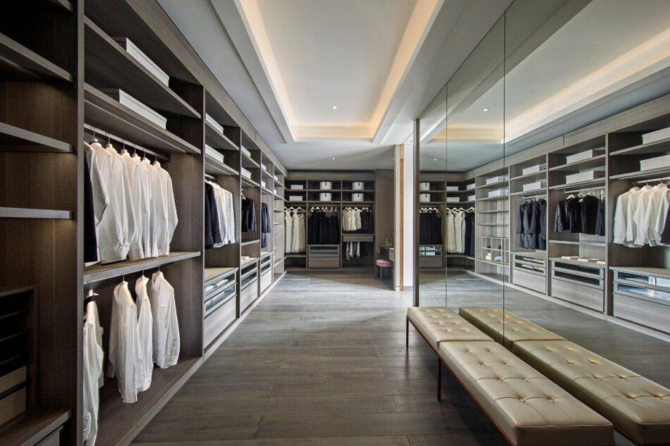 Kelly Hoppen designed a massive closet for a residence in China