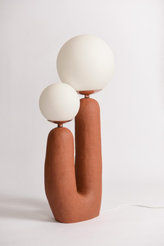 Eny Lee Parker terra-cotta Oo lamp