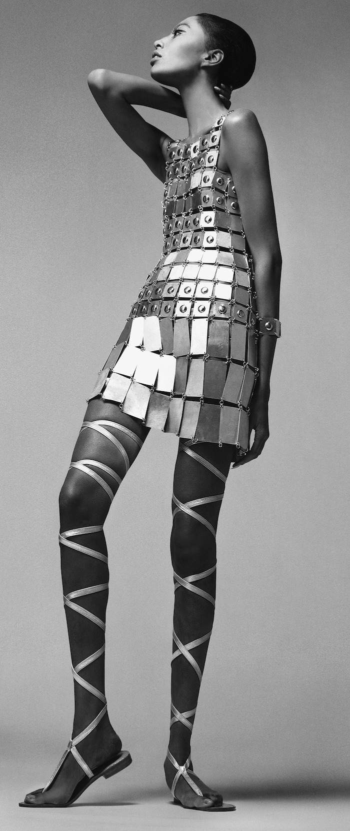 Donyale Luna, dress by Paco Rabanne, New York, December 6, 1966, by Richard Avedon