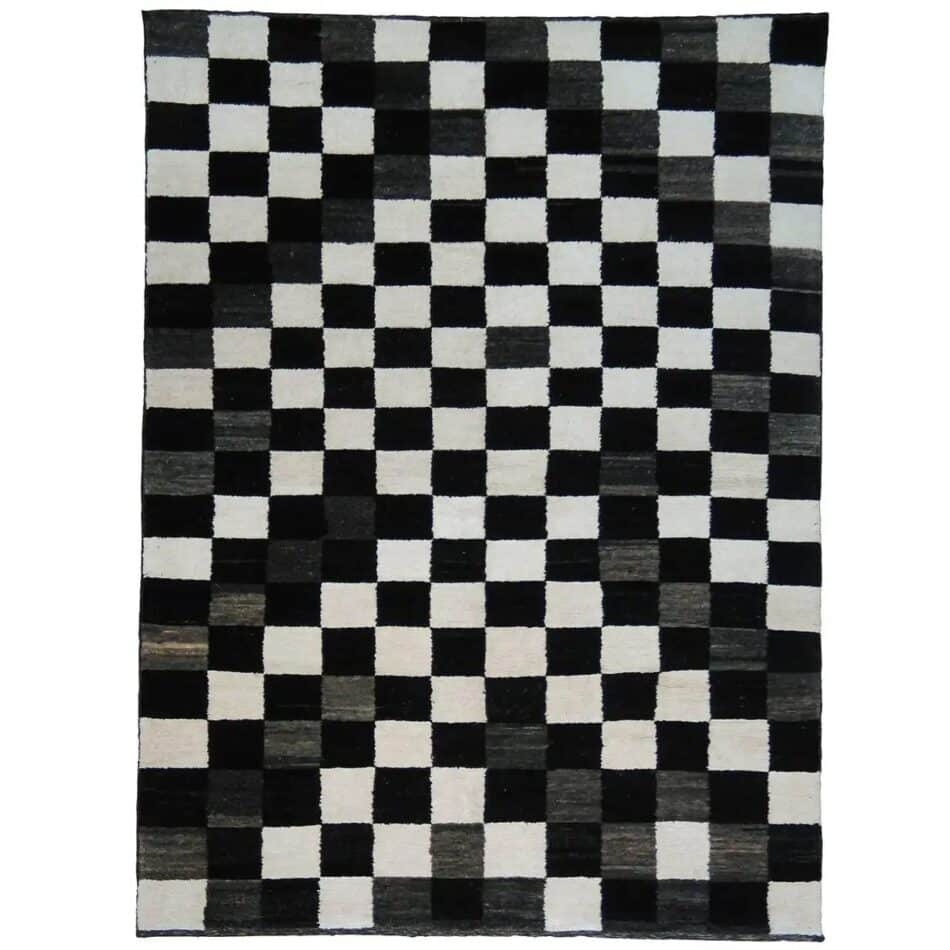 Double Knot Chessboard hand-knotted Turkish carpet