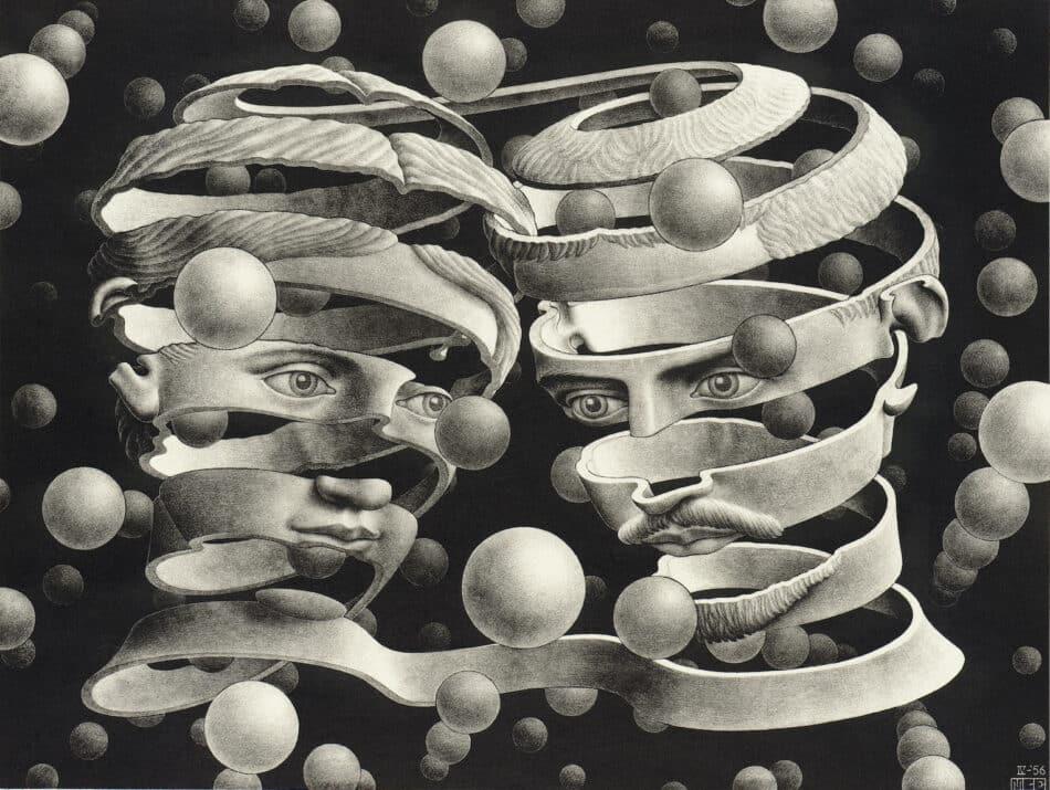 Band, 1956, by M.C. Escher