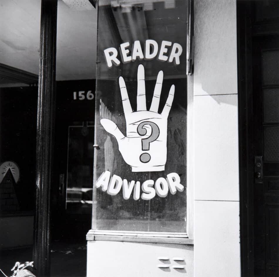 Palmistry Sign, 1962, by Walker Evans