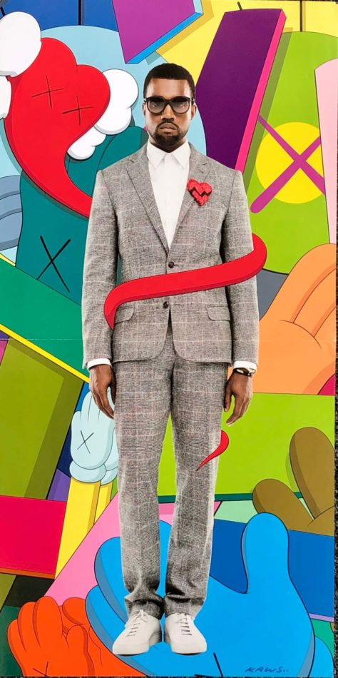 KAWS artwork from the Kanye West album 808s & Heartbreak, 2008, offered by Lot 180