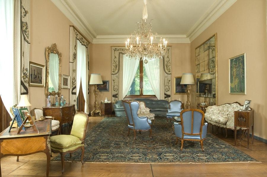 The salon of of Villa Necchi Campiglio.